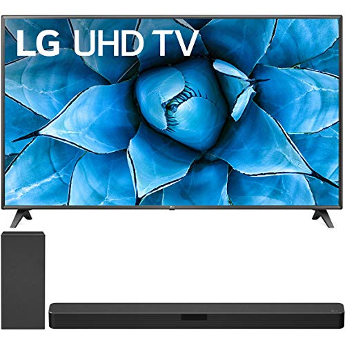 LG 75UN7370PUE 75 inch 4K Ultra HD Smart UHD TV with AI ThinQ and Active HDR 2020 Model (74.5' Diag) Bundle SN5Y 2.1ch High Res Audio Sound Bar w/DTS Virtual:X
