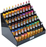 Holder Ink acrylic display stand organizer for tattoo inks, nail polish bottles and other beauty essentials that keeps...