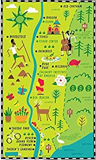 Imagekind Wall Art Print Entitled Illustrated Map of Hudson Valley by Nate Padavick by They Draw & Cook & Travel | 14 x 24
