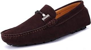 Homme Conduite Chaussures Suède Cuir Mocassin Casual Chaussures Mocassins de Travail de Bureau d'affaires de Mode en Cuir ...