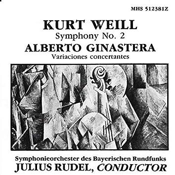 Weill: Symphony No. 2; Ginastera: Variaciones concertantes