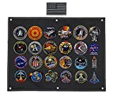 25x18 inch Tactical Patch Display Panel Patch Wall Display Board Patch Storage Holder Frame for Collecting & Showing Military Army Combat Uniform Hook and Loop Emblems Badge Patch (Black)