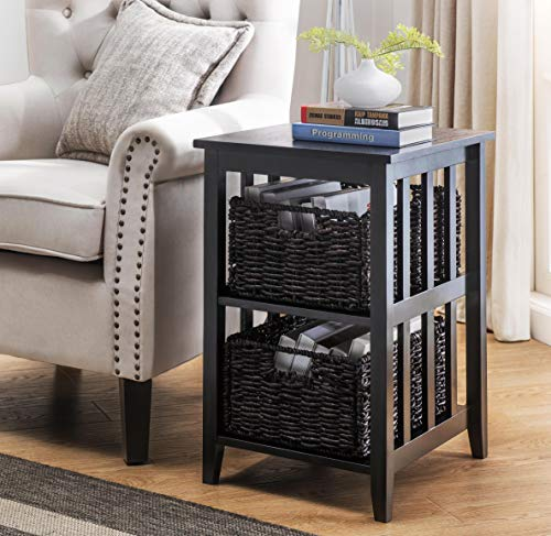 2L Lifestyle Greenville Woven Basket Side Table, Small
