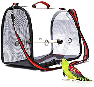BENZHI Bird Parrot Carrier Travel Carriers Lightweight Pets Birds Travel Cage with Perch