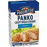 Progresso Panko Plain Bread Crumbs Box, 8 oz (Pack of 6)