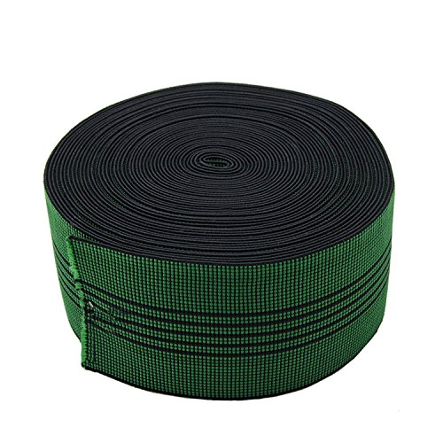 PBRO Sofa Elastic Webbing Stretch Latex Band Furniture Repair DIY Upholstery Modification Elasbelt Chair Couch Material Replacement Stretchy Spring Alternative Three Inch 3' Wide x Forty Ft 40' Roll