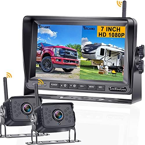 RV Backup Camera Wireless 7 Inch Monitor 2 Rear...