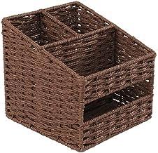 SKGOFGODcw Home Storage Bins Storage Box, Straw Paper Basket, Rattan Basket, Remote Control Key Multi-function Tissue Box,...