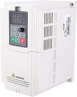 Inversor VFD, variador trifásico VFD Variador de frecuencia 1.5KW-7.5KW 380V Entrada y salida Ampliamente utilizado para máquinas de fabricación, ventiladores de sequía, bombas(5.5KW)