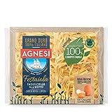 Agnesi Tagliatelle all'uovo | Pasta all'uovo Festaiola | Confezione compostabile da 250 grammi