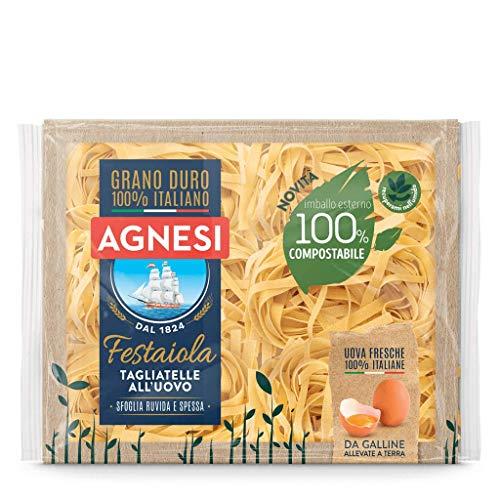 Agnesi Tagliatelle all'uovo   Pasta all'uovo Festaiola   Confezione compostabile da 250 grammi