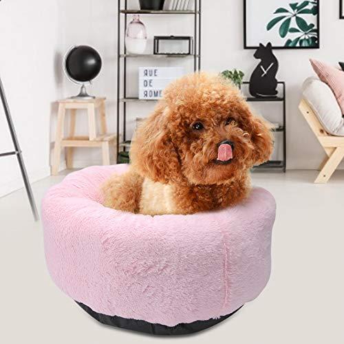 KUIDAMOS Haustier Winterbett feuchtigkeitsbeständig und rutschfest. für Cat Dog Indoor Pink Grau Hellbraun(Pink Plush)