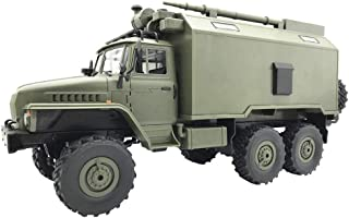 RC Military Truck - WPL B36 Ural 2.4G 1:16 6WD 20km/h High Speed Radio Remote Control Off-Road Car Command Military Truck RTR Vehicles for Children & Adults (Army Green, USA)