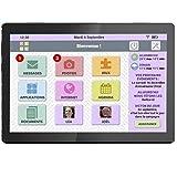 FACILOTAB Tablette L Rubis - WiFi - 32 Go - Android 9 - Marque Lenovo - Interface simplifiée pour Seniors