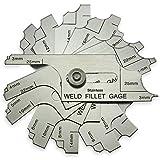 7 pieza Soldadura de filete Set Medidor RL Galga Prueba de inspección de soldadura ulnar Métricas