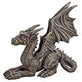 Design Toscano Desmond The Dragon Gothic Decor Statue, 16 Inch, Greystone