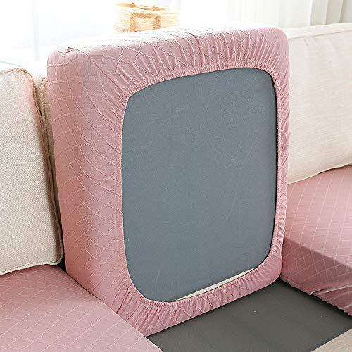 JXYLJJ Sofabezug, Stretch Sofa Bezüge, Sofa Abdeckung, Jacquard Couchüberwurf, Maschinenwaschbar, 3-Sitzer, Für L-Form Schnittcouch (Rosa,1-Sitzer groß)