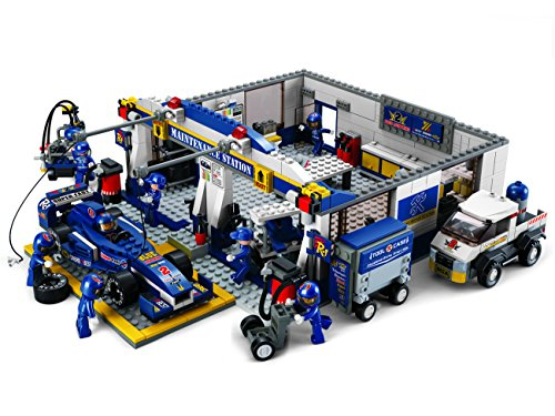 Sluban M38-B0356 - bouwdoos - Formula 1 - servicestand met vele modellen