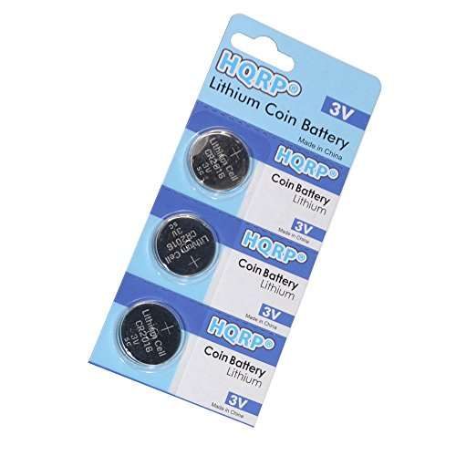 HQRP 3-Pack Coin Lithium Battery for Chrysler 200 Key Remote + HQRP Coaster