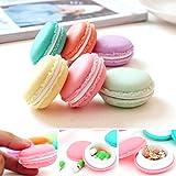 Ularma Kopfhörer Box 6 Mini Macarons-Tasche Ohrhörer Schmuck Medikamente Ring Ohrringe...