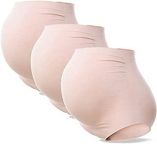 Women's High Waist Maternity Underwear Seamless Pregnancy Panties Over Bump Briefs