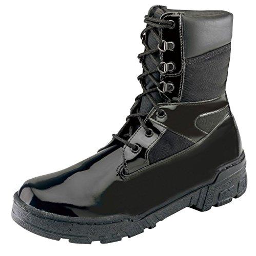 "Thorogood Men 8"" Commando Plus Gloss Black Leather Law Enforcement Boot- 11 M"