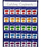 Carson Dellosa Positive Reinforcement Chart—30 Pocket Organizer with 30 Bucket...
