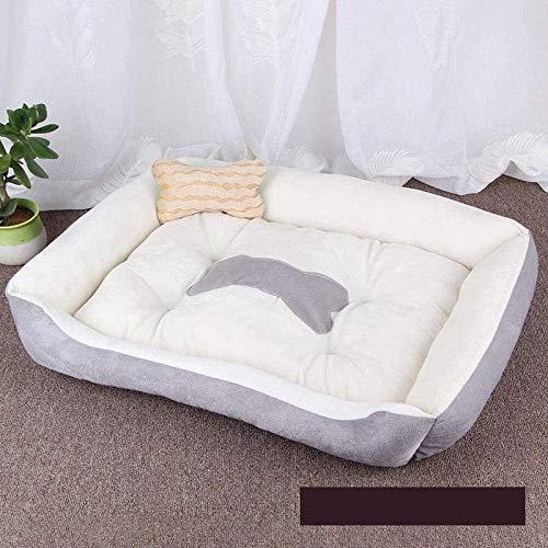 Cama para perros cálida alfombra para perro, cama de invierno, gato, cama suave nido para perros, canastas para cachorros, nido gris, XS, azul, XS WUTAO1, Gris, Large