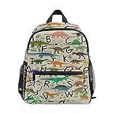SLHFPX Dinosaurs Alphabet Cute Animals School Backpack for Girls Kids Elementary School Bag Mini Backpacks