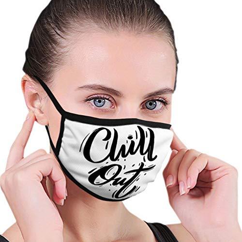 Máscara bucal Mascarilla Frase de relajación Reutilizable Letras Dibujadas a Mano Cepillo Moderno