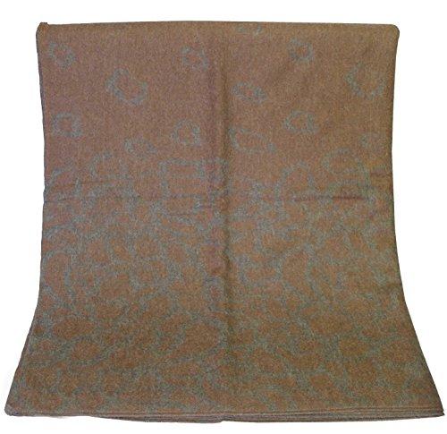 Rotfuchs Couverture Couverture en laine Couverture Couverture à carreaux Jacquard brun gris 100% laine (Mérinos)