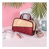 Bolsa De Maquillaje De Viaje Portátil Moda Simple Bolso Cosmético De Las Mujeres, Pequeño Organizador Cosmético para El Pincel De Maquillaje Lápiz Labial (Color : M-2, tamaño : 9.4 * 3.1 * 5.9in)