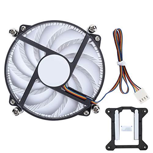 gostcai Ventilador de CPU de 95 mm 4 Pines, Enfriador de disipador de Calor de presión más Baja de núcleo de latón Altura 4 Pines PWM S950M(con)