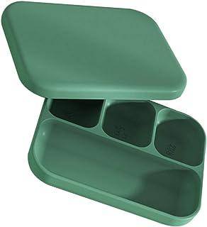 TOYANDONA Baby Silicone Divided Plate Bowl Anti Fall Baby Bowl Self Feeding Training Dish Microwave Dishwasher Safe