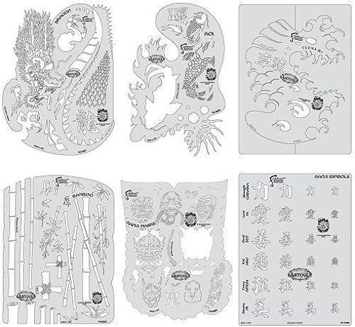 Artool Freehand Airbrush Templates, Kanji Master Set by Iwata-Medea