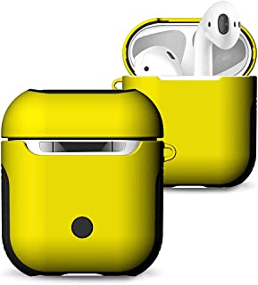Docooler TPU Silicone Earphone Case Protective Cover for Airpods Shockproof Waterproof Protector for AirPod Accessories Frosted Surface (Yellow)
