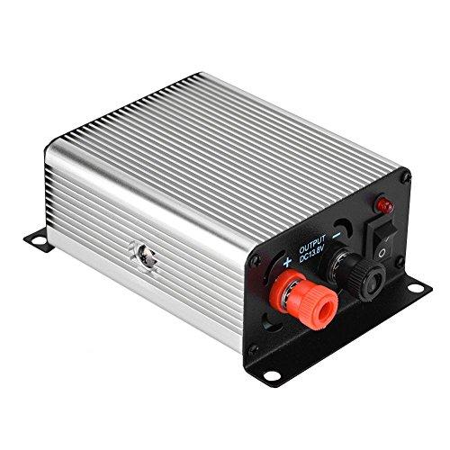 Mugast voeding, Mini Silver schakelende voeding 24 V tot 13,8 V autoradio-voeding voor de radiozenders in de auto