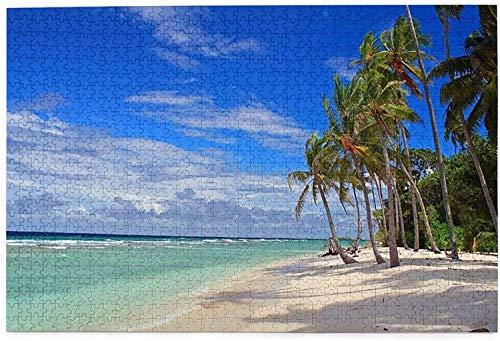 Tropical Beach-Island Sky Clouds Monumentos Puzzle para adultos - Juego de rompecabezas familiar Entretenimiento Juguetes de bricolaje para regalo creativo (1000 piezas)