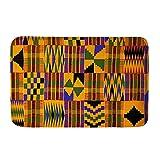 Biyejit Felpudo con patrón tribal africano, para puerta de...