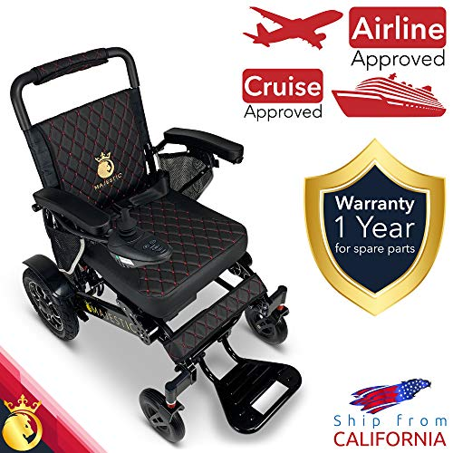 2021 Foldable Electric Wheelchair - Remote Control 500 Watt & Waterproof Motors Lightweight Foldable Motorized Power Electrics Wheel Chair Mobility Aid