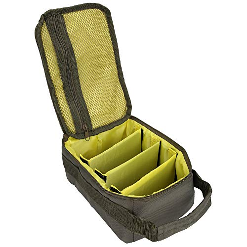 Borlai Fishing Bag, Portable Fishing Reel Storage Bag Fly Tackle Gear Lure Line Case Organizer