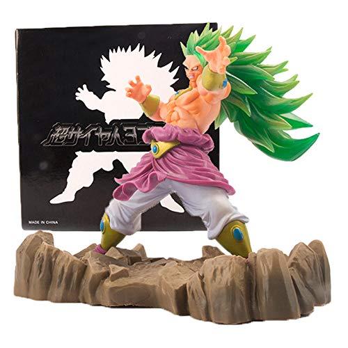 Super Saiyan Broly Figura Dragon Ball Super GT Figuarts DBZ Goku Broli PVC Figura de acción Modelo Coleccionable Estatua de Juguete Niños Figurilla Regalos Dormitorio Decoración de Coche