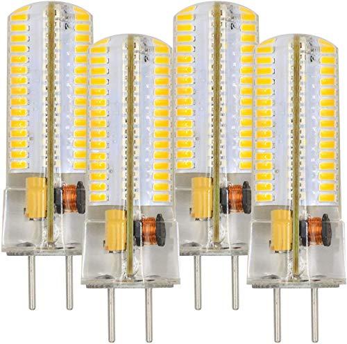 MENGS 4 Stück GY6.35 6W LED Lampe 120x3014 SMD Warmweiß 3000K AC/DC 12V Mit Silikon Mantel