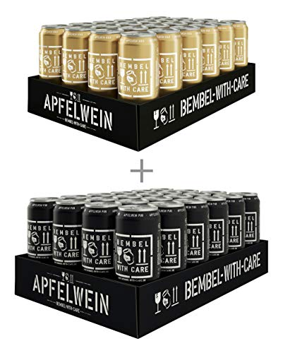 BEMBEL WITH CARE Apfelwein-Pur (24 x 500 ml) + Apfelwein-Gold (24 x 500 ml)