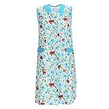 Delantal de mujer sin mangas – Delantal de cocina para mujer – Delantal para el hogar – Bata para mujer – Multicolor en 100% algodón, Modelo 3, 58