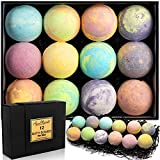 Luxury Bath Bombs for Men - Gift Set of Large Fizzy Bathbombs with Organic Essential Oils - Natural Vegan Oil Bubble Bomb and Moisturizing Fizzies Bubbles - 12 Pack, Lavender