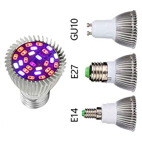 Viktion 5730SMD E14 28 LED Pflanzenlampe Vollspektrumlicht Pflanzenlicht LED Growlicht Pflanzen-Wachstumslampe für Obst Garten Pflanzen Gewächshaus Gemüse