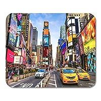 """8"""" X 10""""マウスパッドニューヨークシティDec Timesは、ネオンと商業の象徴的なストリートアメリカの12月のマウスパッドの忙しい観光の交差点ラップトップ、デスクトップコンピューターオフィス用品マウスマット用"""
