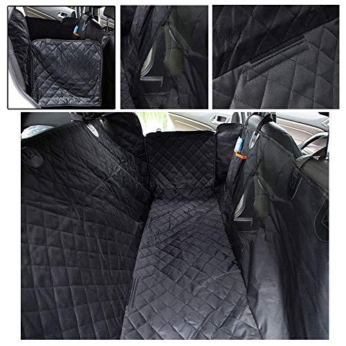 JKNMRL Hundesitzbezug mit offenem Doppelloch-Design, Taschen und Netzfenstern Geeignet für die meisten Autos
