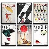 MONOKO® - Set di 6 poster per soggiorno o camera da letto, immagini di alta qualità, eleganti quadri da parete, senza cornice